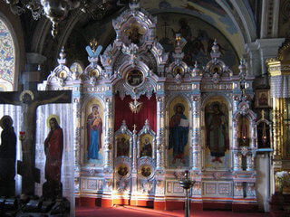 Иконостас в Борисо-Глебском соборе Рязани