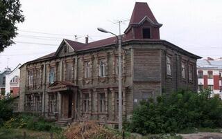 Дореволюционный дом рядом с Борисо-Глебским собором Рязани
