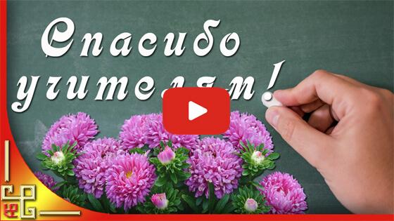 спасибо учителям видео