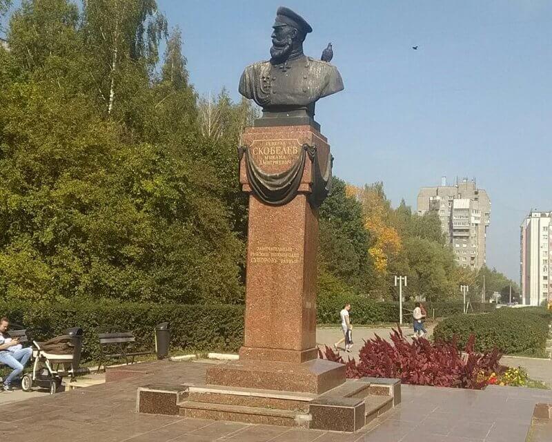 Памятники и арт-объекты Рязани Скобелев