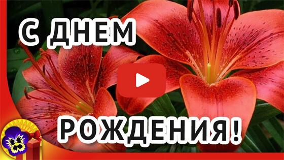 Поздравление с лилиями видео