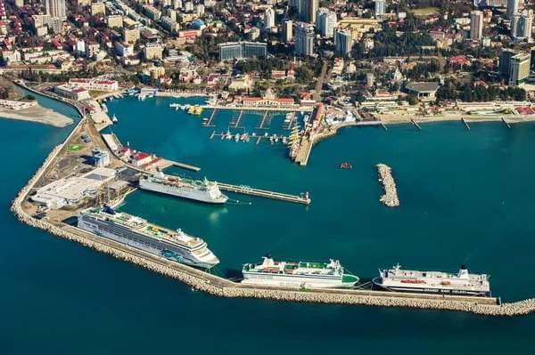 Морской вокзал в Сочи вид сверху