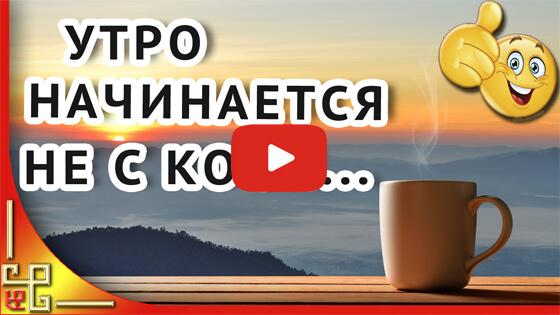 Утро начинается не с кофе  видео