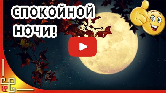 Доброй ночи видео